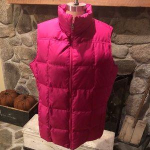 Lands' End Women's Down Puffer Vest Size XL Pink